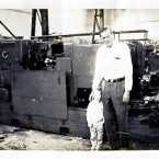 Leonard Graff with grandson Ari, in front of Wickman