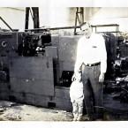 Leonard Graff with grandson Ari, in front of Wickman