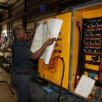 Julio, Graff-Pinkert Electrician Working on Screw Machine