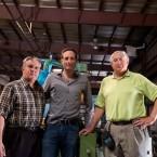 Lloyd Graff, Rex Magagnotti, Noah Graff on Top of a 45-12 Hydromat