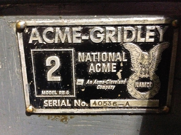 "Acme Gridley 2"" RB6 Multi-Spindle Screw Machine"
