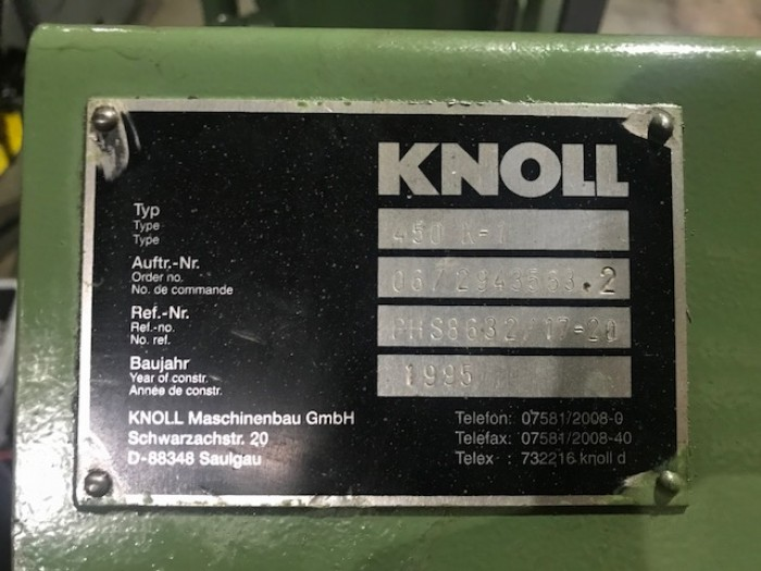 Knoll Chip Conveyor for Hydromat