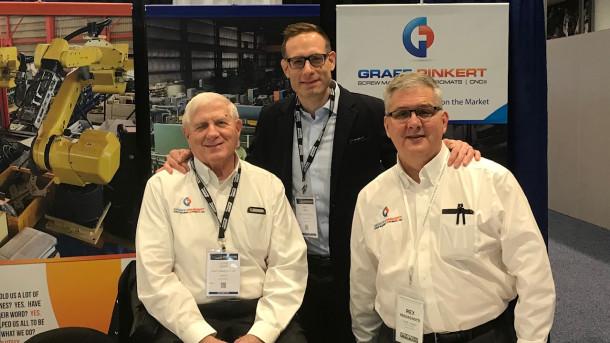 (Left to right) Lloyd Graffi, Noah Graff, Rex Magagnotti at PMTS Show
